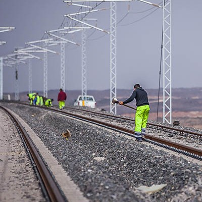 Haramain project The Train of the Desert  leveling the tracks